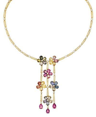 图解:独一无二的黄金项链,来自sapphire flo