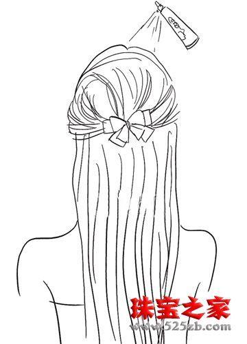 新娘头纱手绘图片