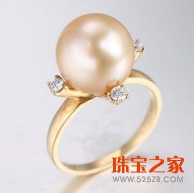 金珠戒指图片