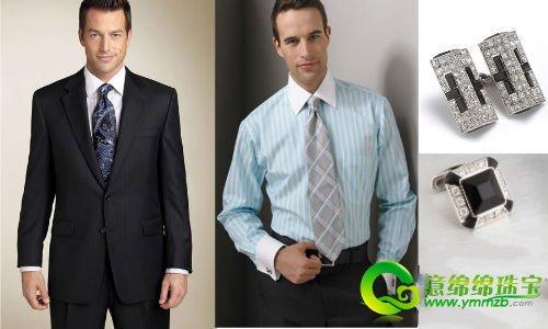 男士衬衫和领结搭配