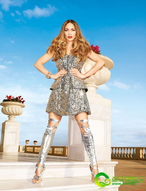 性感 詹妮弗/洛佩兹复古装登杂志封面 塑造出魅惑性感女王形象