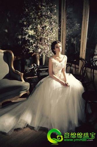 欧式宫廷风新娘婚纱