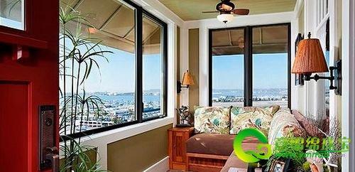 舒适的婚房阳台设计 给新人一个惬意的空间