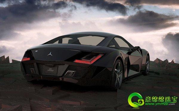 奔驰sf1概念跑车 设计新颖独到霸气非凡