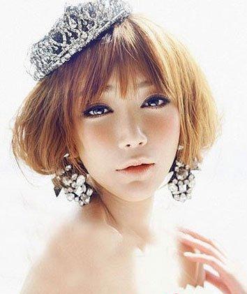 五款发型 打造俏丽短发新娘
