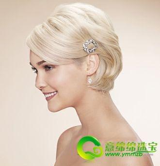 四款优雅欧美新娘发型