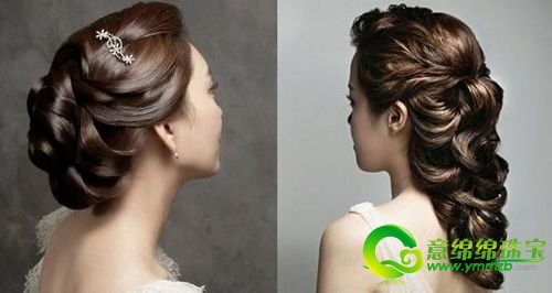 简单的优雅盘 将长头发在后面低低的扎起来,梳成桃形刘海,固定好