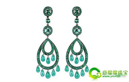 水滴刻画在彩宝之上,在珠宝设计师的慧手中把女人的美淋致的描绘出来.