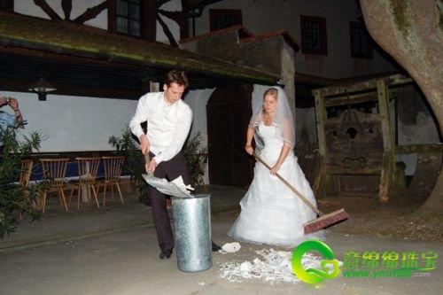 农村森林系婚礼现场图片