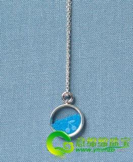 粉砂-项链,内蕴粗粝沙子做装饰,充满奇思妙想.奇幻的印度洋蓝色仿佛采图片