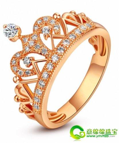 皇冠系列公主钻戒,璀璨的钻石,独特闪亮的皇冠,独属于那俏皮可高清图片