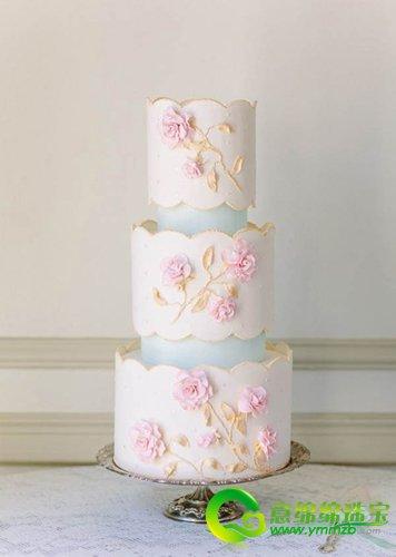 浪漫唯美的手绘花纹蛋糕 让你的婚礼与众不同