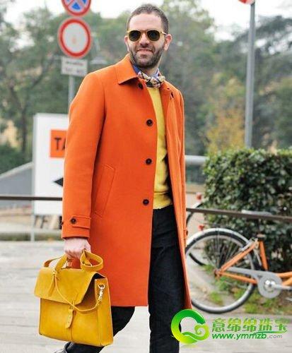 黄橙色衣服搭配图片